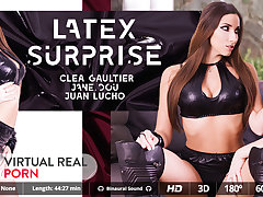 Clea Gaultier  Jane Dou  Juan Lucho in Latex surprise - VirtualRealPorn