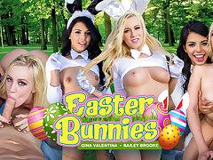 Bailey Brooke  Gina Valentina in Easter Bunnies - WankzVR
