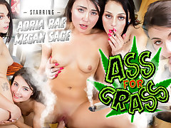 Adria Rae  Megan Sage in Ass for Grass - WankzVR