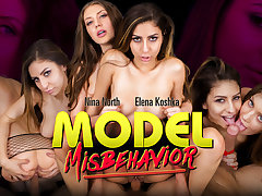 Elena Koshka  Nina North in Model Misbehavior - WankzVR