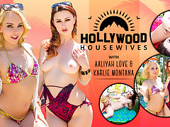 Aaliyah Love  Karlie Montana in Hollywood Housewives - WankzVR