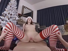 Christmas fucking and dick sucking bird Nata Ocean roughly POV video