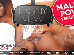 Jai James  Nick Ross in Ebony view (Male POV) - VirtualRealPorn