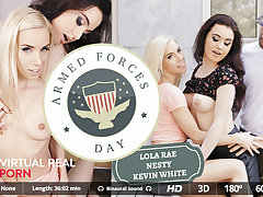 Kevin White  Lola Rae  Nesty in Army forces day - VirtualRealPorn