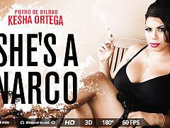 Kesha Ortega  Potro de Bilbao in She's a narco - VirtualRealPorn